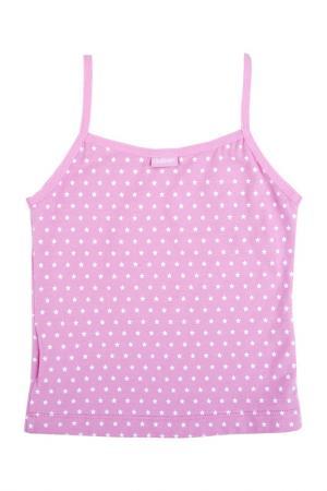 Майка Gulliver. Цвет: розовый, орнамент