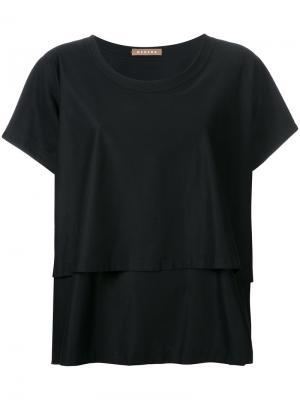 Двухслойная футболка Nehera. Цвет: чёрный