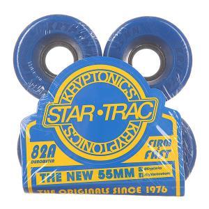 Колеса для скейтборда лонгборда  Star Trac Premium Blue 82A 55 mm Kryptonics. Цвет: синий