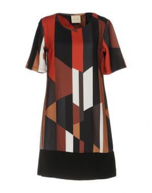 Короткое платье LOU LONDON. Цвет: стальной серый