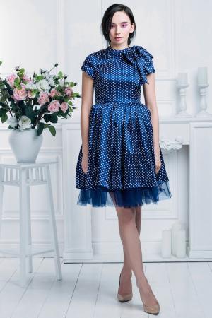 Коктейльное платье Nothing but Love. Цвет: темно-морской синий, белый