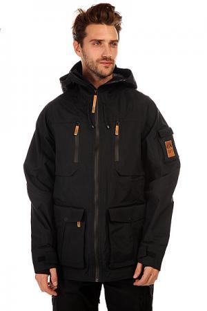 Куртка парка  Falk Jacket Black CLWR. Цвет: черный