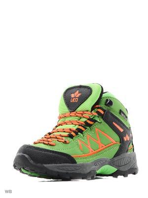 Ботинки Lico. Цвет: зеленый, оранжевый, черный