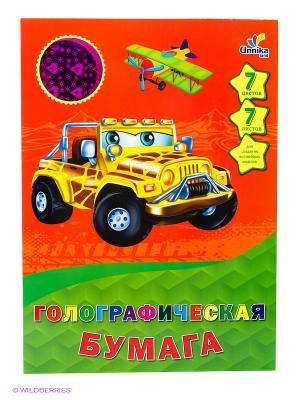 Машинки. Дизайн 22 (ЦБГ7790) 7л.7ц. НАБОРЫ ЦВЕТНОЙ БУМАГИ Канц-Эксмо. Цвет: оранжевый