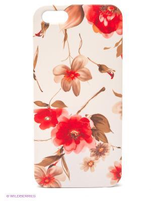 Чехол для IPhone 5 Акварель Mitya Veselkov. Цвет: красный, белый