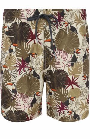 Плавки-шорты с принтом Z Zegna. Цвет: бежевый