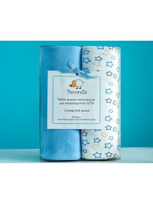 Комплект пеленок Pecorella Nice Blue - 2шт. (для мальчика). Цвет: голубой, бежевый