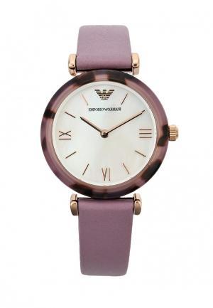 Часы Emporio Armani. Цвет: фиолетовый