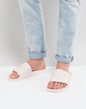 Nicce London Розовые сандалии. Цвет: розовый