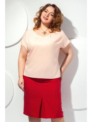 Блузка Modellos. Цвет: персиковый