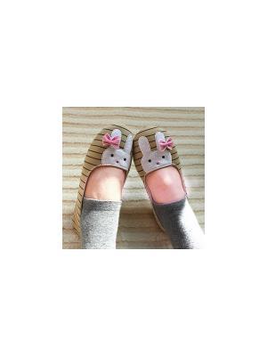 Тапочки Kawaii Factory. Цвет: бледно-розовый, серый меланж, бежевый