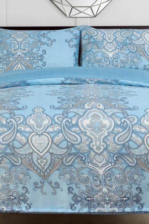 Постельное белье 1,5 сп, 70x70 СIOCCOLATO. Цвет: голубой