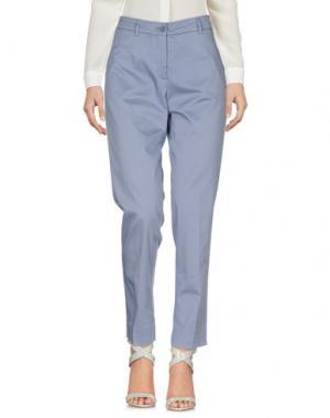 Повседневные брюки SCAGLIONE CITY. Цвет: грифельно-синий