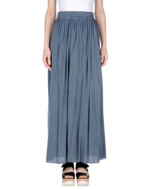 Длинная юбка PUROTATTO. Цвет: грифельно-синий