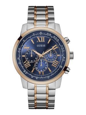 Часы GUESS. Цвет: золотистый, синий, серебристый