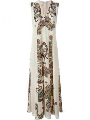 Платье с орнаментом Antonio Marras. Цвет: телесный