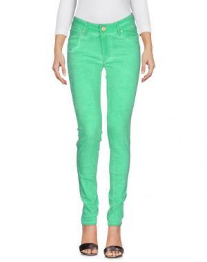 Джинсовые брюки DON'T CRY. Цвет: зеленый