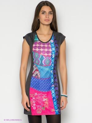 Платье Desigual. Цвет: темно-серый
