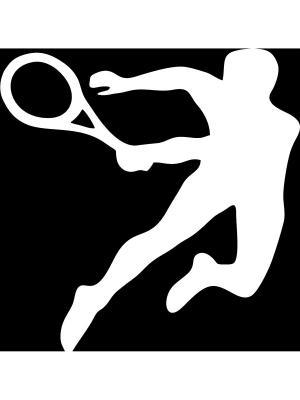 Виниловая наклейка Теннис Оранжевый Слоник. Цвет: белый