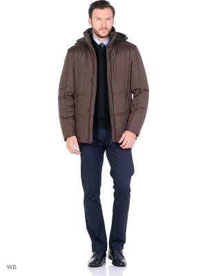 Куртка ABSOLUTEX. Цвет: темно-коричневый