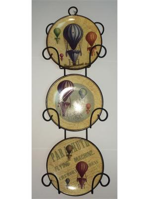 Набор из 3-х тарелок Magic Home. Цвет: желтый