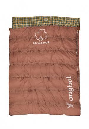 Спальный мешок Novatour. Цвет: коричневый