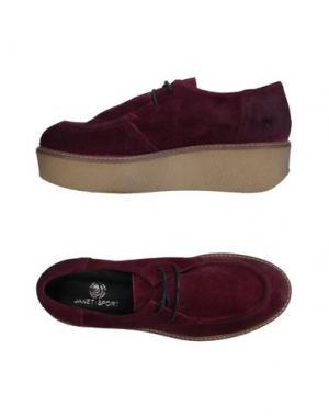 Обувь на шнурках JANET SPORT. Цвет: баклажанный