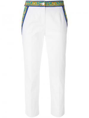 Брюки с принтом Majolica Dolce & Gabbana. Цвет: белый