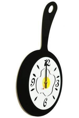 Часы Сковородка W-ERA. Цвет: черный, белый