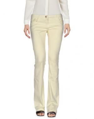 Повседневные брюки PARIS HILTON. Цвет: желтый