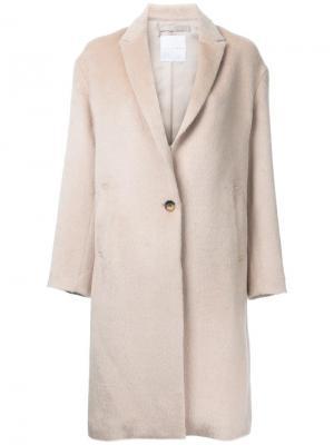 Классическое пальто Cityshop. Цвет: телесный