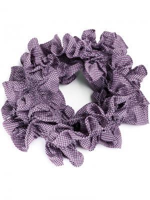 Объемный шарф с оборками Y / Project. Цвет: розовый и фиолетовый