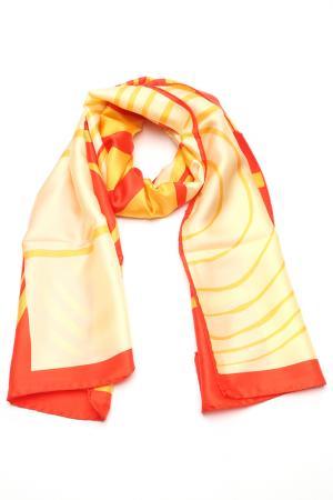 Шарф F.FRANTELLI. Цвет: желтй, красный, ванильный