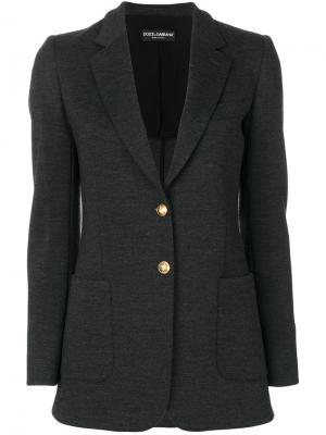 Пиджак с золотистыми пуговицами Dolce & Gabbana. Цвет: серый