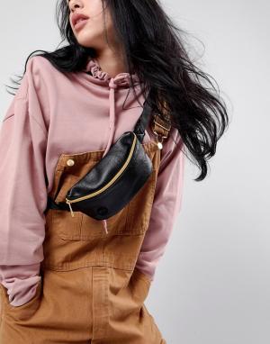 Mi-Pac Черная сумка-кошелек на пояс. Цвет: черный