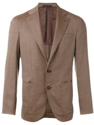 Классический пиджак Caruso. Цвет: коричневый