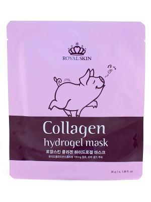 Гидрогелевая маска с коллагеном Royal Skin. Цвет: белый
