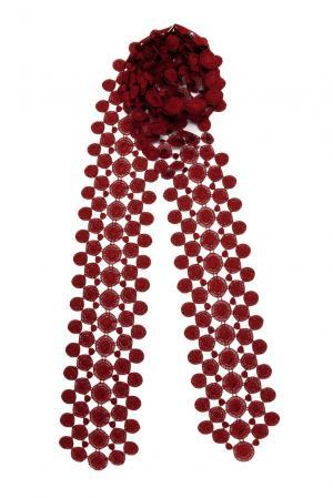 Кружевной шарф 143357 Plauener Spitze. Цвет: красный