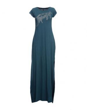 Длинное платье !M?ERFECT. Цвет: зеленый