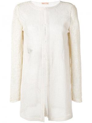 Сетчатый пиджак Drome. Цвет: телесный