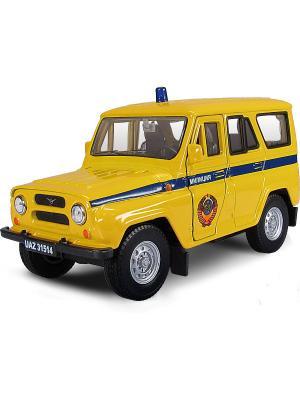 Машина UAZ 31514 милиция СССР AUTOTIME. Цвет: желтый