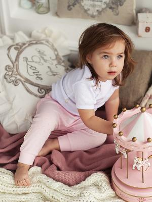 Брюки Lucky Child. Цвет: розовый