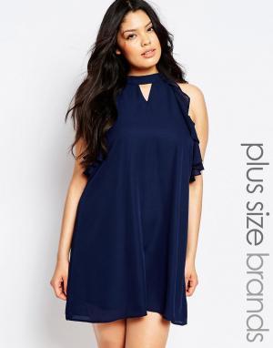 Truly You Цельнокройное платье без рукавов. Цвет: темно-синий