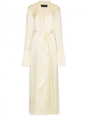 Длинное платье  запахом Michael Lo Sordo. Цвет: жёлтый и оранжевый
