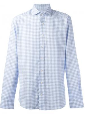 Клетчатая рубашка на пуговицах Hackett. Цвет: синий