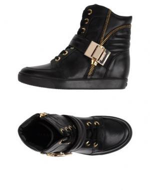 Высокие кеды и кроссовки ALBANO. Цвет: черный