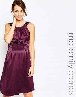 Ripe Цельнокройное платье для беременных Maternity Samantha. Цвет: фиолетовый