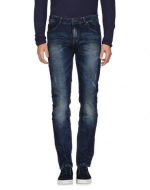 Джинсовые брюки DAVID NAMAN. Цвет: синий