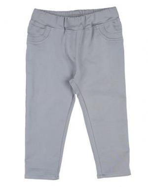 Повседневные брюки MONNALISA BEBE'. Цвет: серый