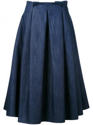 Midi pleated skirt Société Anonyme. Цвет: синий